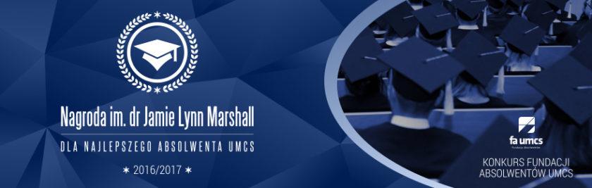 Nagroda im. dr Jamie Lynn Marshall dla Najlepszego Absolwenta UMCS