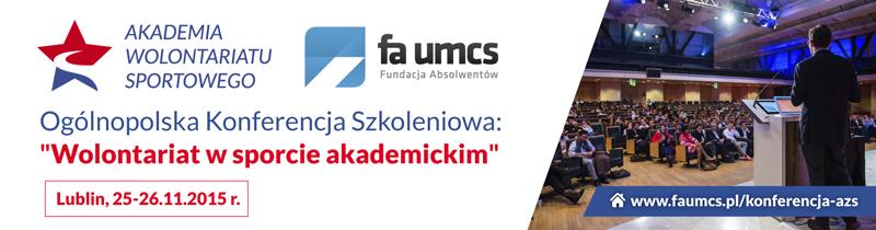 Akademia Wolontariatu Sportowego - konferencja