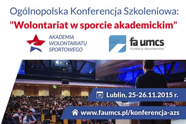 """Konferencja """"Wolontariat w sporcie akademickim"""""""