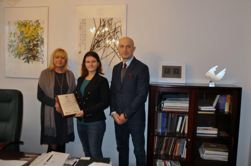 Wręczenie nagrody w Konkursie Fundacji Absolwentów UMCS