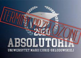 Absolutoria 2020 – Terminy przełożone!
